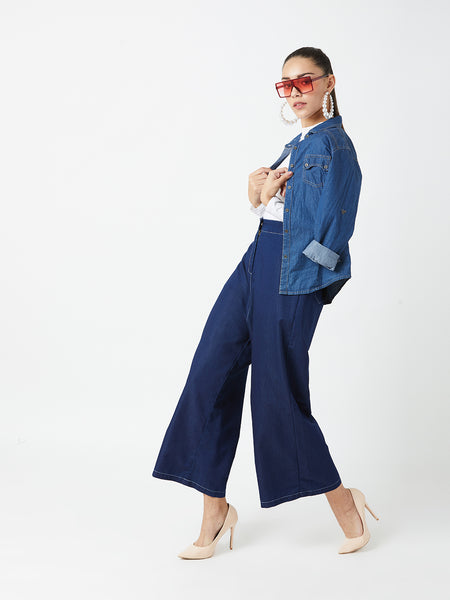 Cannon Ball Flared Denim Pants