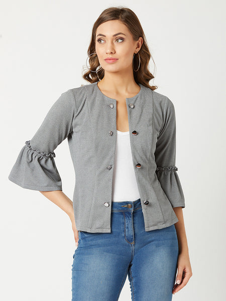 A Pretty mess Ruffle Sleeve Jacket