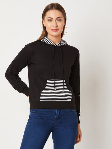 Shadow Dancing Striped Hooded Sweatshirt
