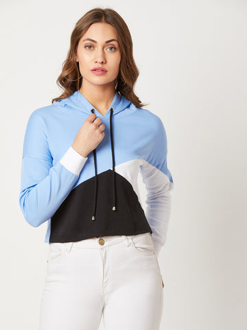 Desert Desires Colour-block Sweatshirt Multicolor-Base Blue