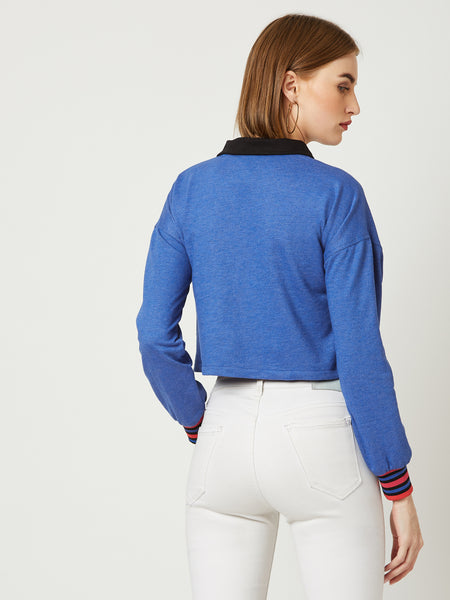 Our Moment Rib Panelled Sweatshirt