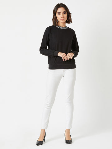 Snow Fall Embellished Sweatshirt
