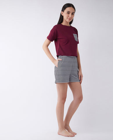 Hooked On A Feeling Striped Pocket T-shirt