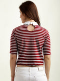 Striped Out Of The Box Crop Top