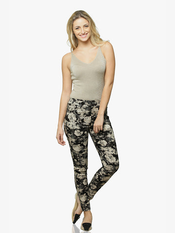 Bouquet Of Love Printed Jeggings