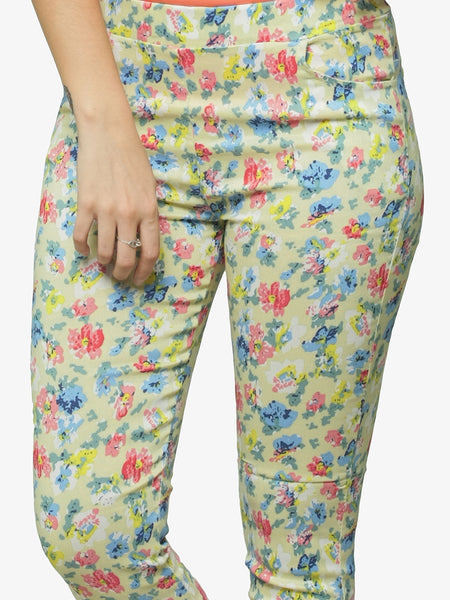 Showers Of Flowers Printed Leggings