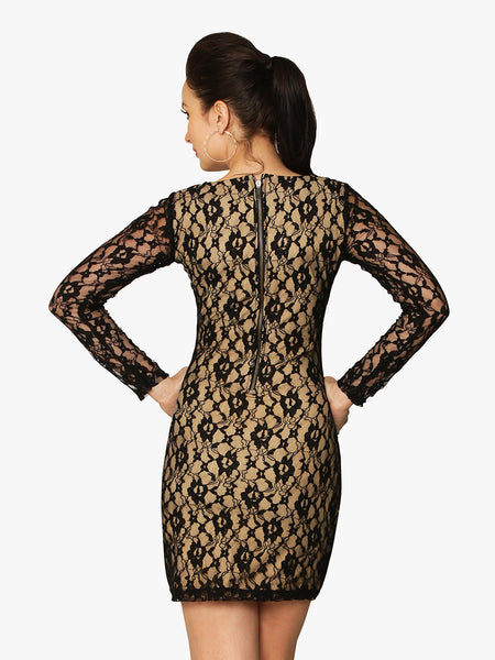 Unforgettable Lace Bodycon Dress