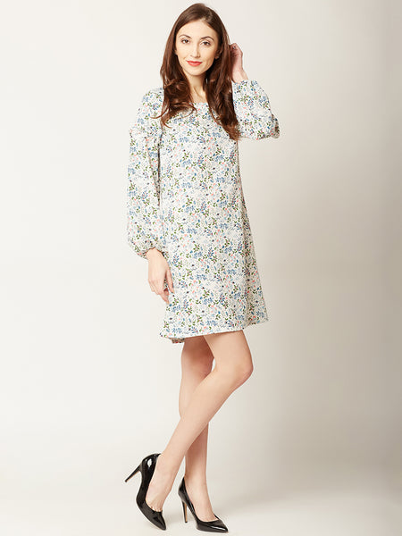 In A Nutshell Printed Shift Dress