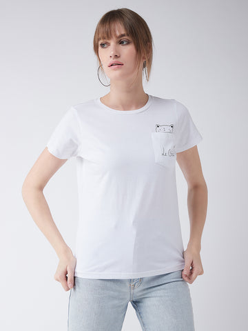 Le Chat Crew Neck T-Shirt