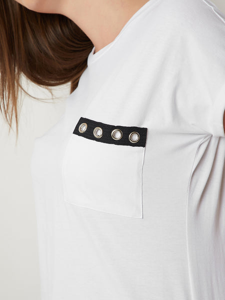 Over Beats Eyelet Pocket T-Shirt