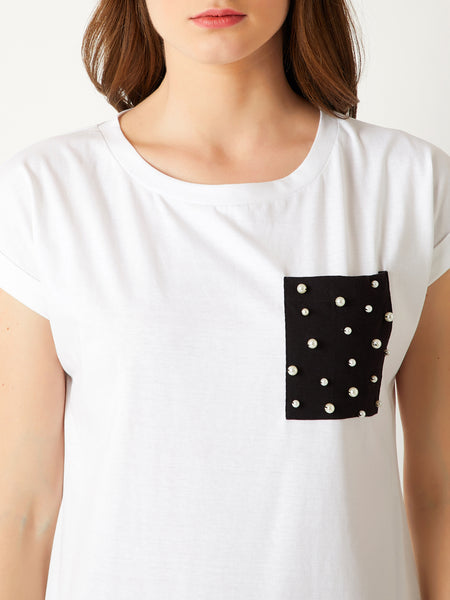 Call Me Maybe Pearl Pocket T-Shirt