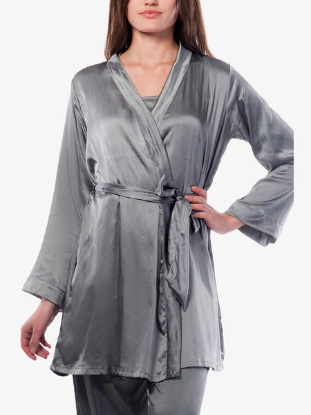 Worth your while satin sleep robe