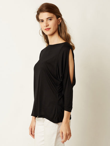 Let It Drop Shoulder Cut Out Top