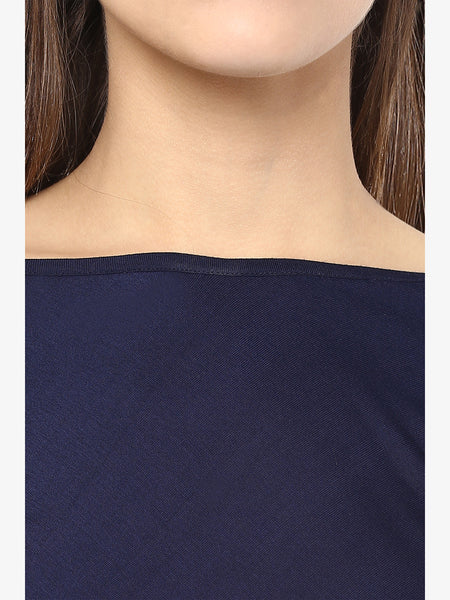 The Daydream Flare Top Navy Blue