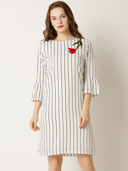 Tick It Off Striped Shift Dress