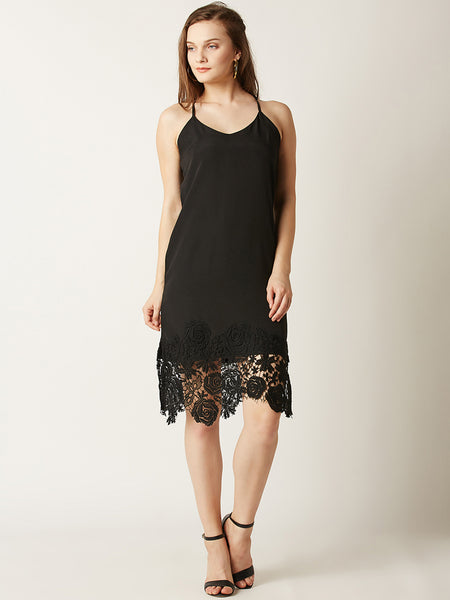 Private Party Lace Slip Dress