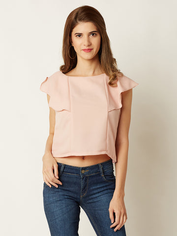 Back In The Groove Ruffled Top