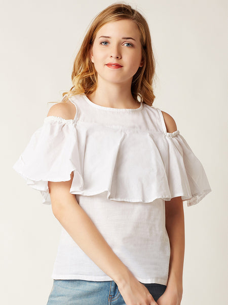 Out In The Space Cold Shoulder Top