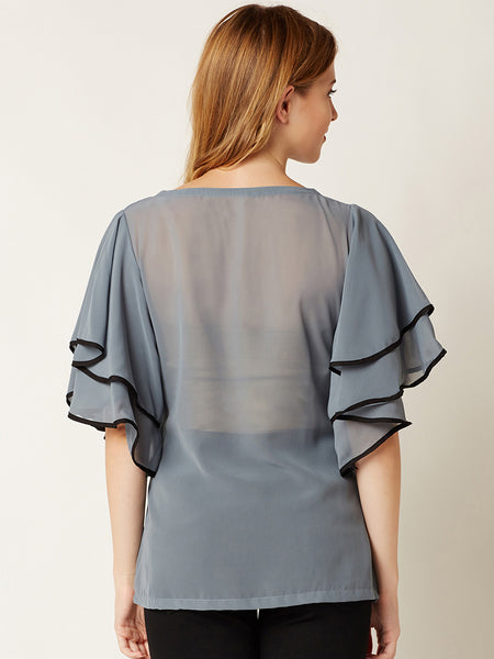 Slice Of Life Ruffled Top