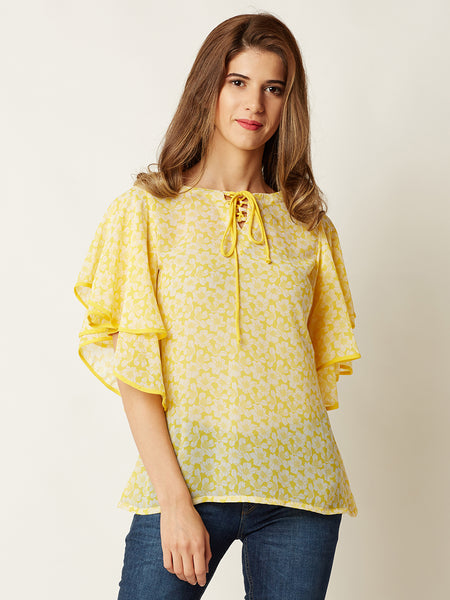 Knotted Life Ruffled Top