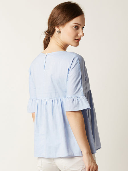 Twillight Zone Ruffled Top