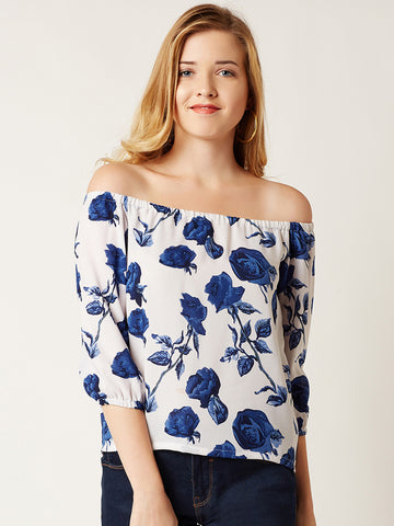 Floral Lover Bardot Top