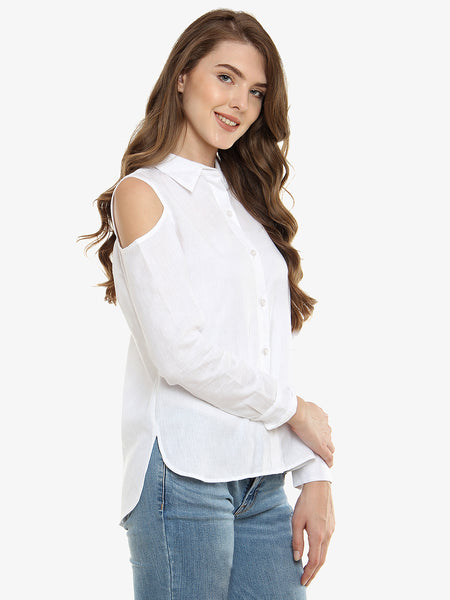 Changed My Mind Cold Shoulder Shirt