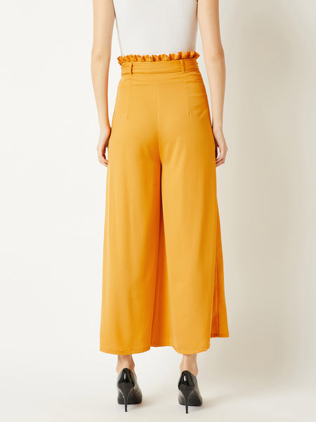 Overtime Loving Paper Bag Flare Pants