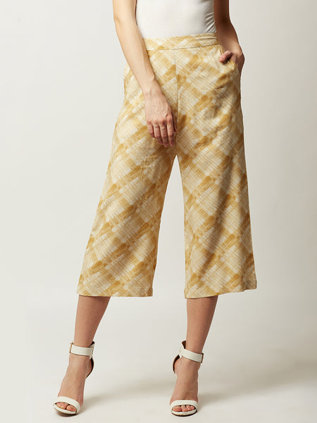 One Track Mind Printed Culottes