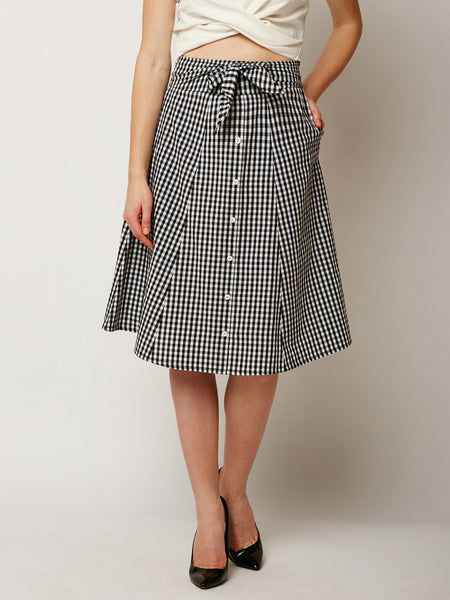 Because I Can Checkered Panel Skirt