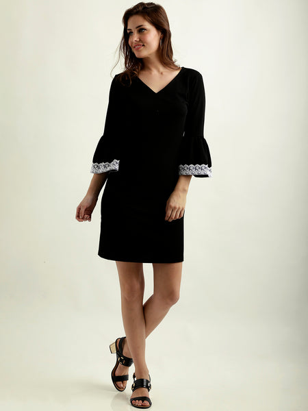 Loosing Light Lace Sleeve Shift Dress