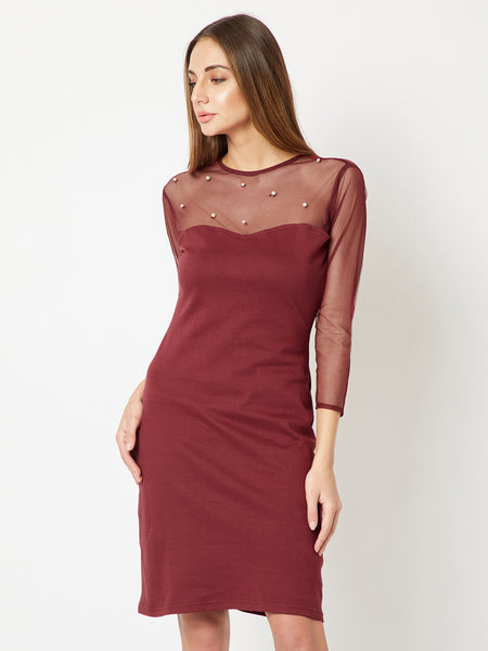 All Day Sheer Pearl Shift Dress