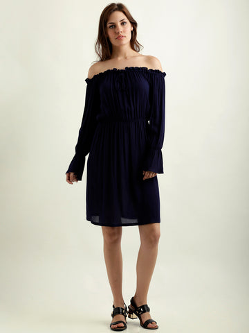 Soul Sister Drawstring Bardot Dress