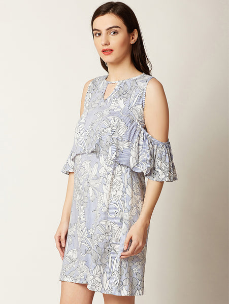 League Of Your Own Cold Shoulder Dress