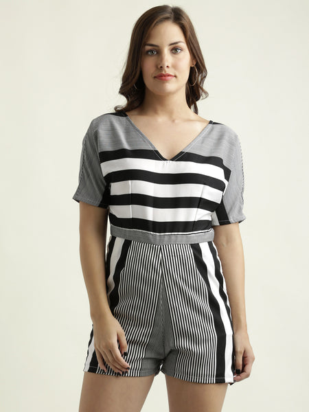 Wild Thoughts Stripe Playsuit