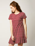 Sing And Dance Striped A-Line Dress