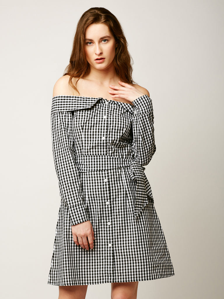 ddb1cb659892 Complete Potential Bardot Shirt Dress – Miss Chase