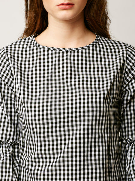 Patience Is Genius Checkered Dress