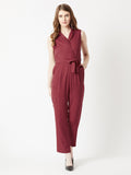 Flick Your Hair Collar Jumpsuit