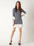 All We Know Stripe Ruffle Dress