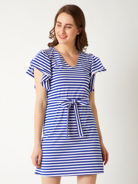 Fetish For Love Stripe Belted Dress
