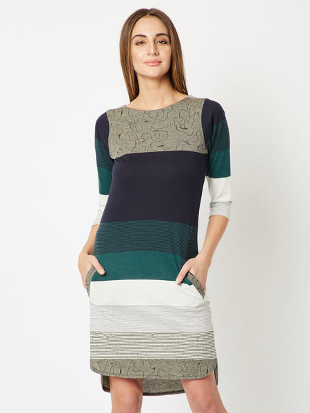 Right Round Shift Dress