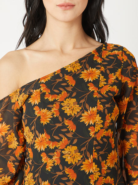 Not My Fault One Shoulder Dress