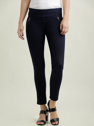 Drag Me Down Zipper Skinny Jeggings