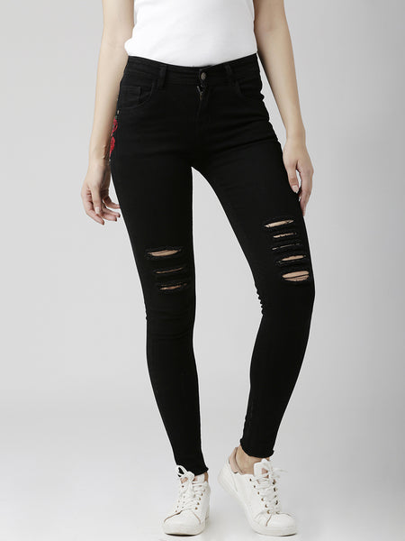Kick Back Ripped Highrise Jeans