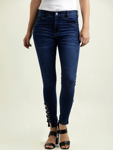 Criss Cross Denim Pant