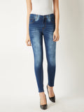 Jewelled up high rise jeans