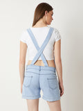 Light It Up Short Denim Dungaree