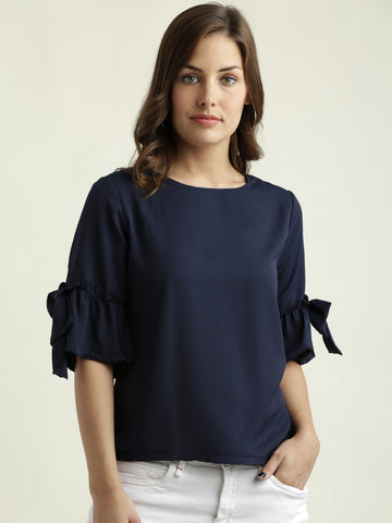 Rain Will Fall Bow Sleeve Top
