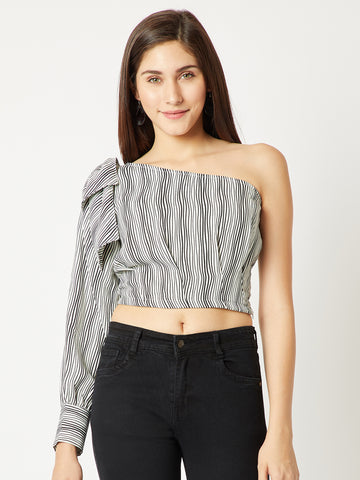 Stressed Out One Shoulder Top
